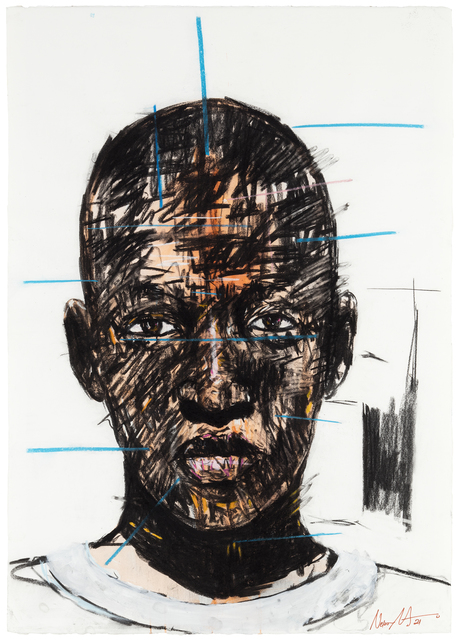 Nelson Makamo, 'Untitled', 2021, Drawing, Collage or other Work on Paper, Charcoal, ink and pastel on paper, MAKASIINI CONTEMPORARY