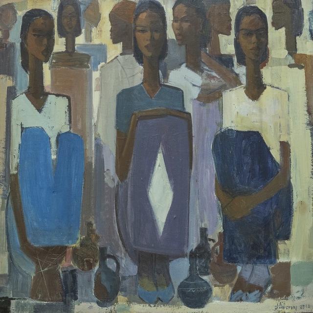, 'Pillars of Life: Waiting II,' 2019, Addis Fine Art