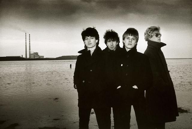 Sheila Rock, 'U2 for their 2nd single, '11 O'Clock Tick Tock', Sandymount Strand, Dublin, Ireland', 1980, ElliottHalls