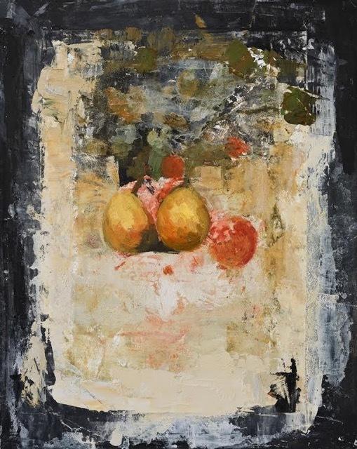 Ġoxwa, 'Still Life II', Painting, Oil and wax on canvas, Hugo Galerie