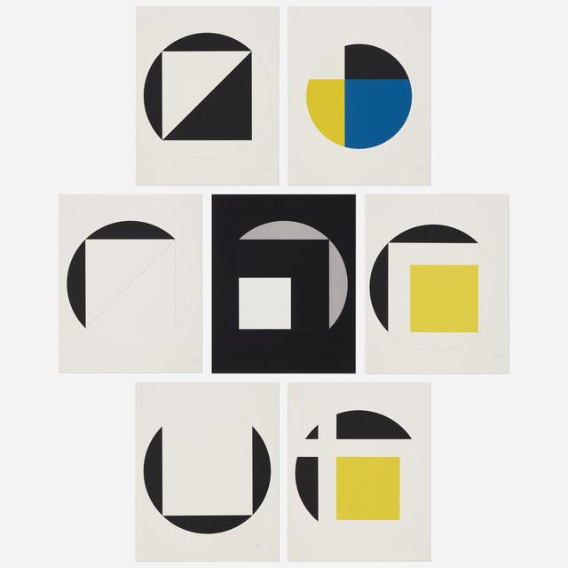 Leon Polk Smith, 'Quadrat im Kreis 1946-1976', 1987, Wright