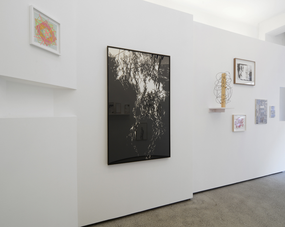 Straßen.Salon: works by Bettina Weiß, Stefan Thiel, Ursula Sax, Susanne Pomrehn, Angela Dwyer and Ute Essig; photo: Jürgen Baumann
