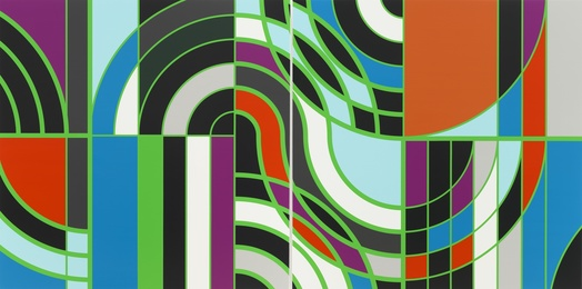 Sarah Morris, 'Burle Marx - Copacabana [Rio],' 2011, White Cube