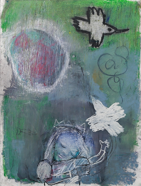 Marty Kelly, 'Ancient Birds', 2020, Drawing, Collage or other Work on Paper, Graphite, oil pastel, chalk pastel & charcoal on Arches HP archival watercolour paper, Gibbons & Nicholas