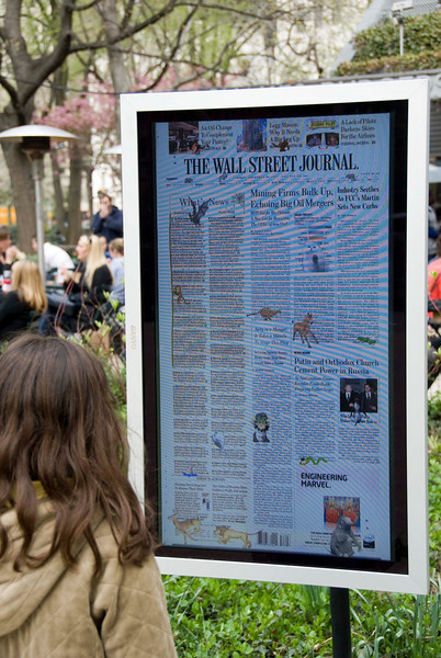, 'Online Newspapers: The Wall Street Journal,' 2008, Madison Square Park