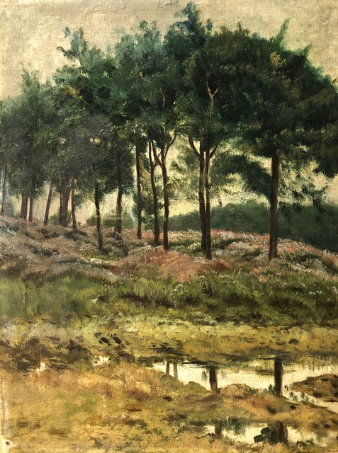 , 'Grove of Trees with Flowers,' ca. 1890, Susan Calloway Fine Arts