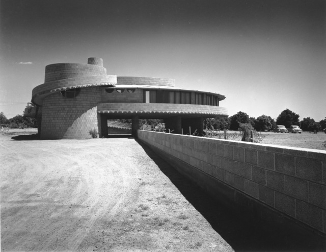 , 'David Wright House, Exterior, Phoenix, Arizona (Frank Lloyd Architect),' 1952, Edward Cella Art and Architecture