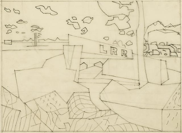 ", 'Study for ""Railroad Bridge"",' 1940, Hirschl & Adler Galleries"