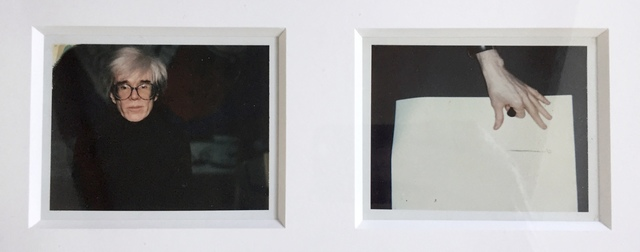 """Andy Warhol, '""""Self-Portrait in Fright Wig and Artist´s Hand"""" (diptych)', 1986, MultiplesInc Projects"""