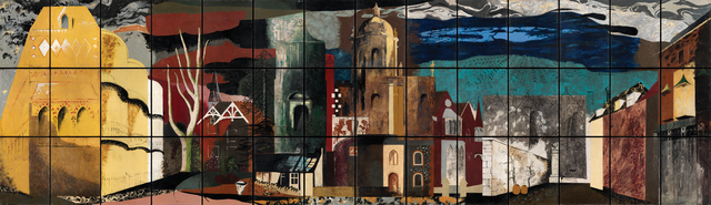 John Piper, 'The Englishman's Home', 1951, Painting, Oil on 42 panels, Liss Llewellyn