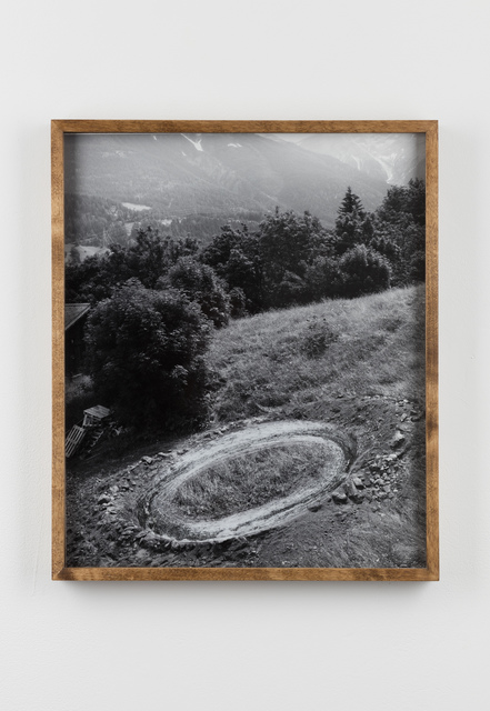 , ' Scratched Photograph of Ditch and Rampart, 4th August 2015 / Ditch and Rampart,' 2015, Laure Genillard