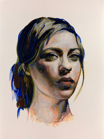 Mercedes Helnwein, 'Jinnie', 2012, Drawing, Collage or other Work on Paper, Oil pastel on paper, KP Projects