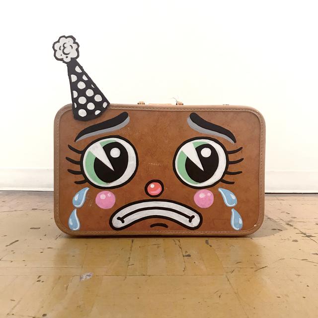 , 'Sad Brown Suitcase,' 2018, La Luz de Jesus Gallery