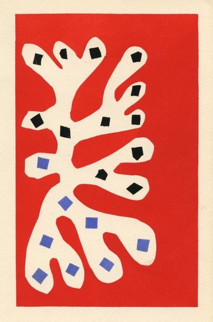 , 'Algue blanche sur fond rouge,' 1953, Artsnap