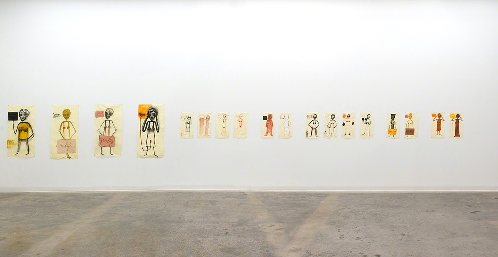 "Mira Schor: ""Power"" Frieze installation view"