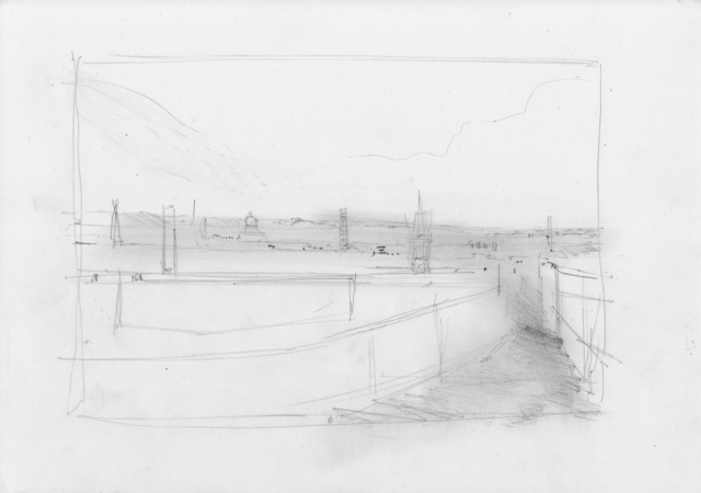 , 'Oxford Drawing #13 Compositional Study,' 2017, Sarah Wiseman Gallery
