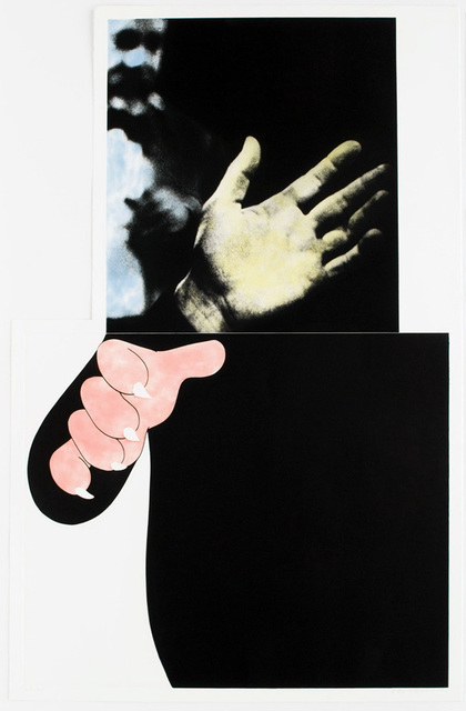 John Baldessari, 'Two Hands (with Distant Figure) ', 1989-1990, Kenneth A. Friedman & Co.