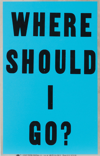 , 'Poster Object (Where Should I Go?),' 1988, Steve Turner