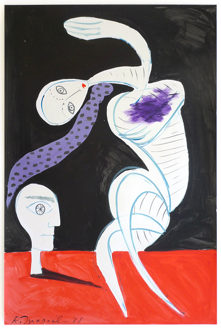 , 'Untitled female figure dancing with male head,' 1988, Nikola Rukaj Gallery