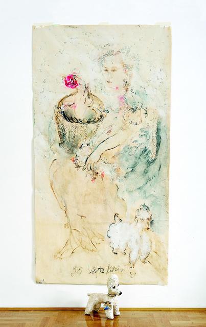 SRĐAN VUKČEVIĆ, 'Portrait with a Rose and a Poodle', 2009, Museum of Modern Art Dubrovnik