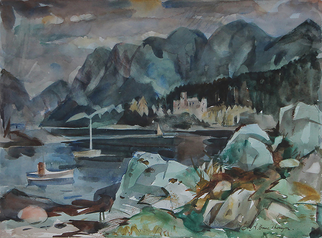 , 'Duncraig and Castle,' ca. 1960, The Scottish Gallery