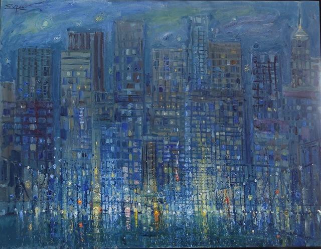 , 'Manhattan at Night,' 2017, Galerie d'Orsay