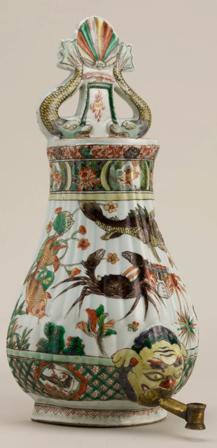 , 'Cisterna de pared China, familia verde, periodo Kangxi,' 1662-1722, Diptych Fine Arts