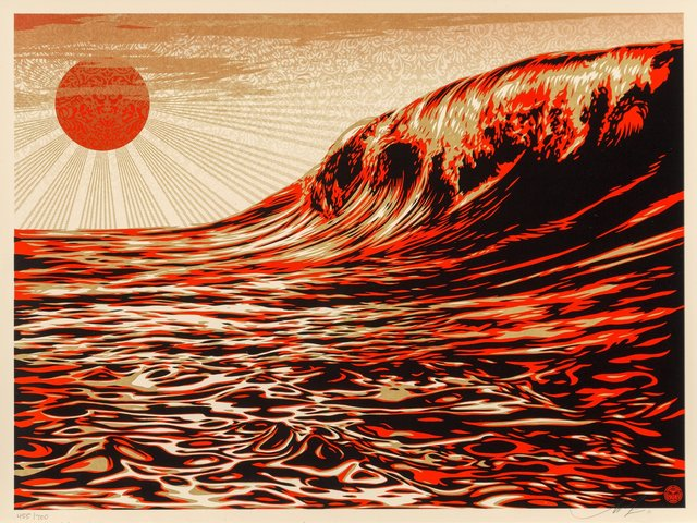 Shepard Fairey, 'Dark Wave/Rising Sun', 2011, Heritage Auctions