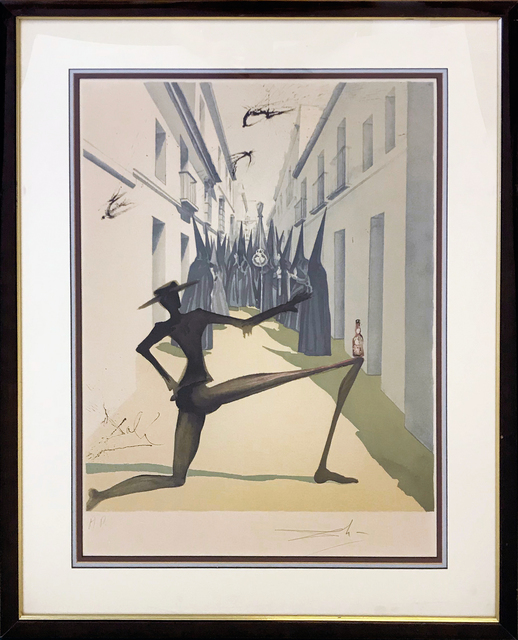 Salvador Dalí, 'THE BIRD HAS FLOWN', 1970, Print, LITHOGRAPH, Gallery Art