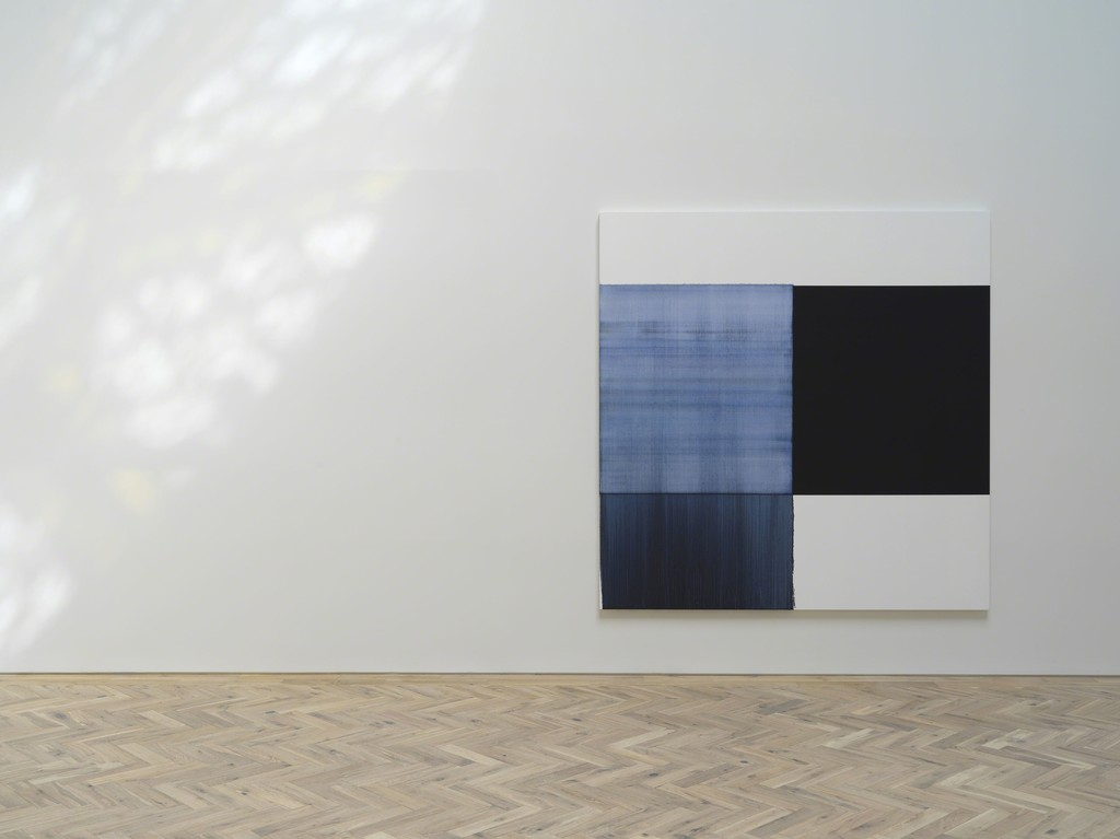 Callum Innes Oriental Blue, 2018 oil on linen
