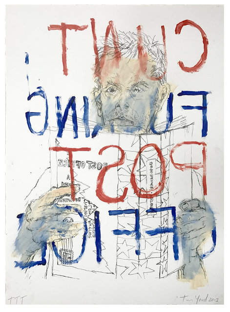 Tim Youd, 'Self-Portrait Reading Charles Bukowski's Post Office', 2013, Coagula Curatorial