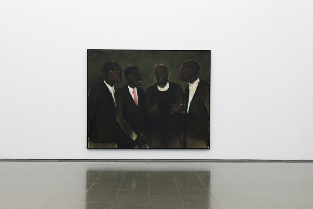 "Lynette Yiadom-Boakye, ""An Education"" (2010). Serpentine Gallery. Courtesy of Corvi Mora, London and Jack Shainman Gallery, New York."