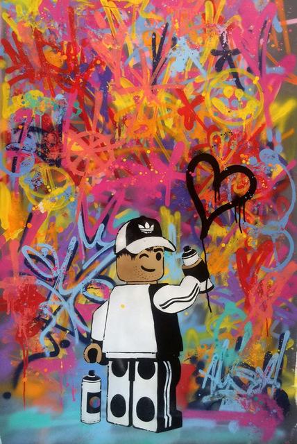 , 'Lego Graffiti Heart,' 2016, ZK Gallery