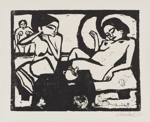 Erich Heckel, 'Two Girls in the Studio', 1910, Galerie St. Etienne