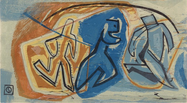 Louis Schanker, 'Man Running.', ca. 1935, Print, Color woodcut,, The Old Print Shop, Inc.