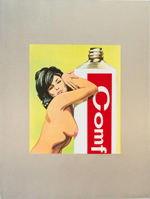Mel Ramos, 'Miss Comfort Creme', 1965, Print, Screenprint, Jim Kempner Fine Art