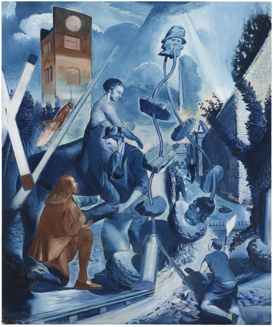 Neo Rauch, 'Der Übergang', 2018, Painting, Oil on canvas, G2 Kunsthalle