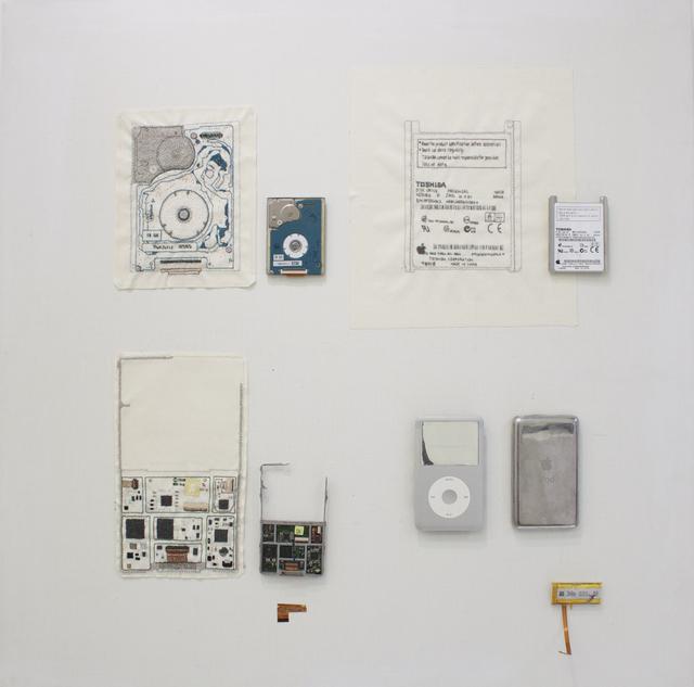 , 'Hand-stitched iPod circuit board,' 2017, YOD Gallery