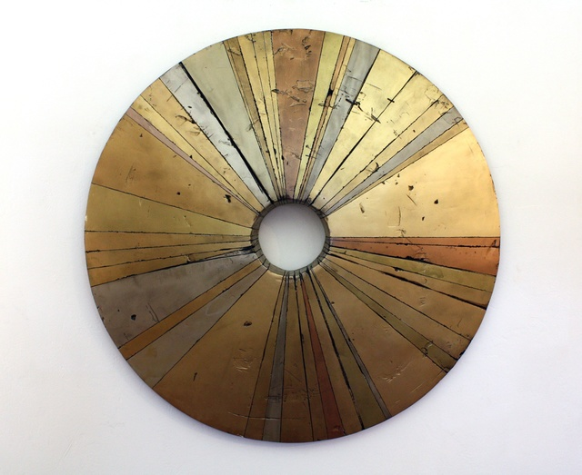 , 'Wheel-Like Object 48 Gold,' 2016, J GO Gallery