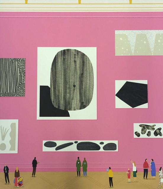 Rose Blake, 'The Engagement', 2015, Print, Monotype print with hand finished details (paint, collage, ink), Rebecca Hossack Art Gallery