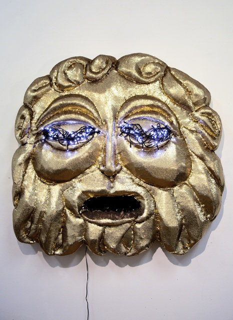, 'Belly of the Beast (Gold Mask),' 2018, Gallery Sally Dan-Cuthbert