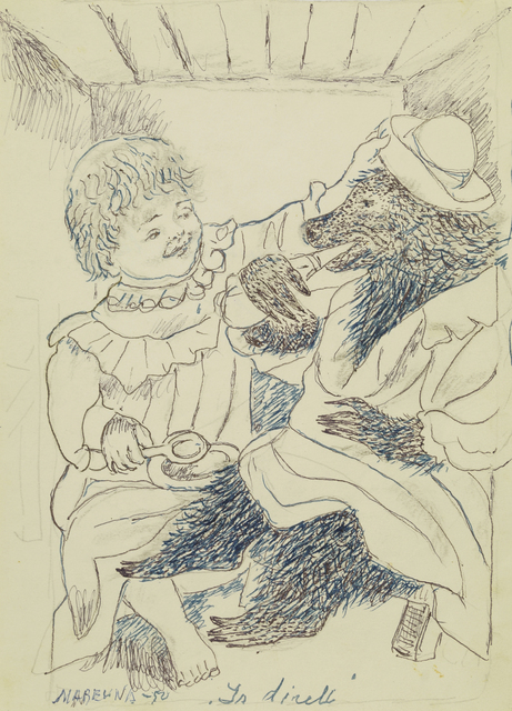 Marie Vorobieff Marevna, 'Bear in captive with young girl in tears', Roseberys