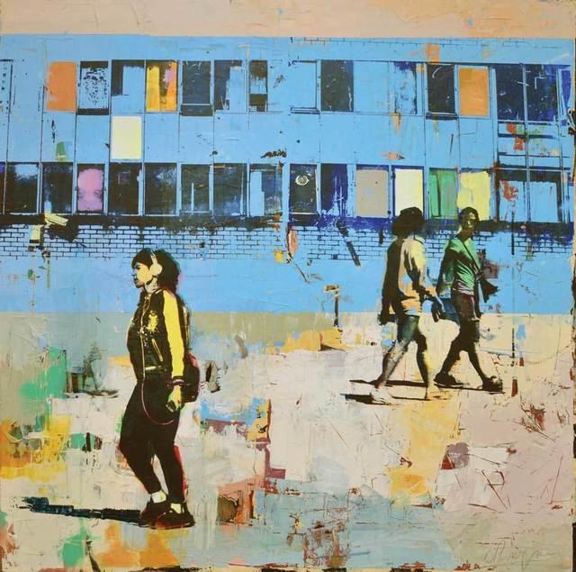 , 'Blue Windows,' 2017, Adam Gallery