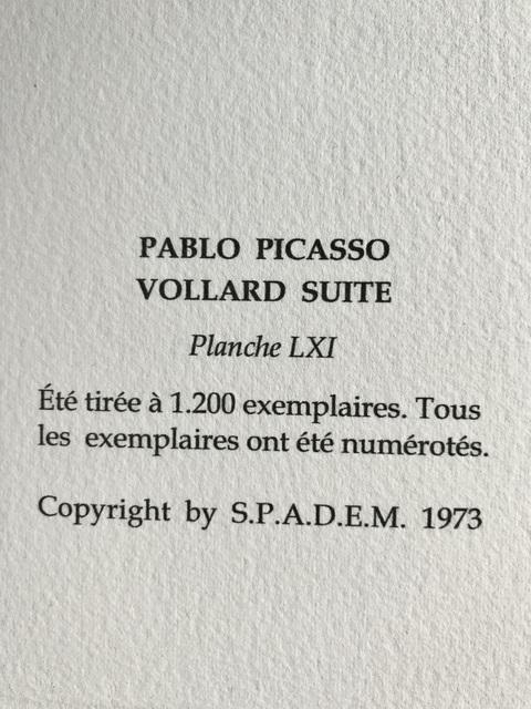 Pablo Picasso, 'La femme et la sculpture (Suite Vollard Planche LXI)', 1973, ByNewArt