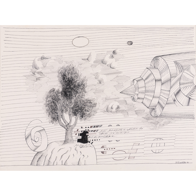 Saul Steinberg, 'Time and Space', 1968, PIASA