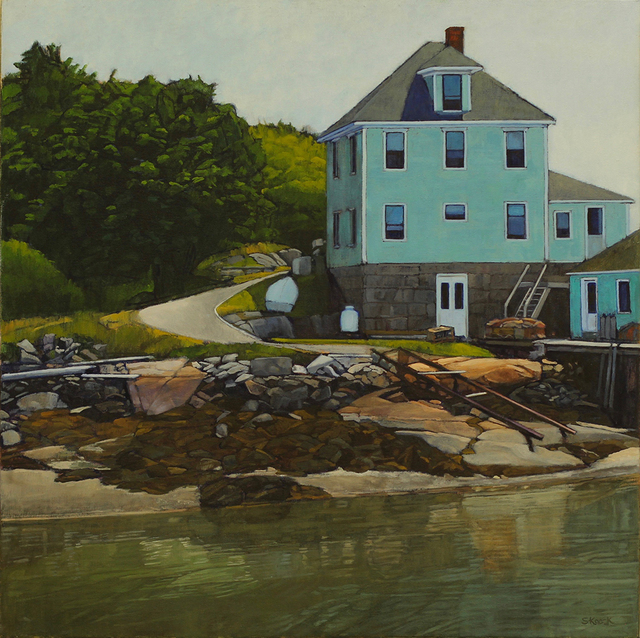 , 'Stonington House and Shore Reflection,' , Greenhut Galleries