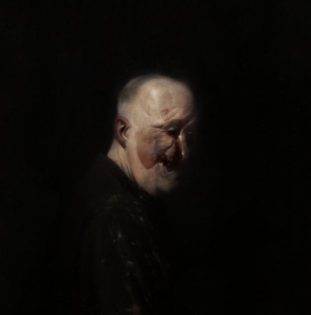 , 'Self Portrait After Henry Tonks 5,' 2013, Flowers