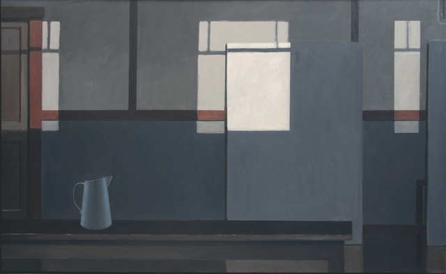 , 'MONDRIAN'S STUDIO WITH THE LIGHTS OFF (BLUE PITCHER),' 2016, Greg Kucera Gallery