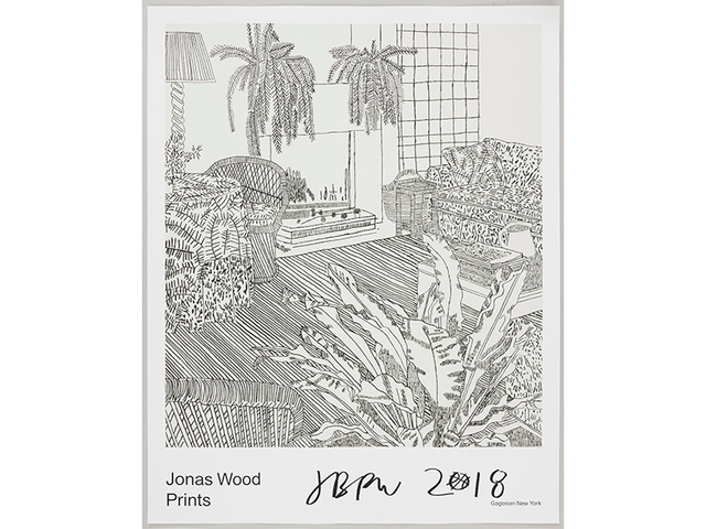 Jonas Wood, 'Gagosian Poster (Signed)', 2018, Print, Print on paper, Kumi Contemporary / Verso Contemporary