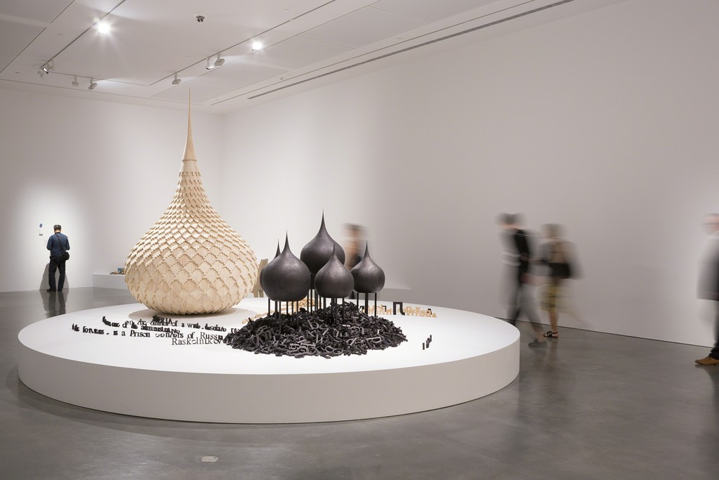 Emily Floyd, installation view, Telling Tales: Excursions in Narrative Form, Museum of Contemporary Art Australia, 2016, image courtesy the artist and Museum of Contemporary Art Australia © the artist, photograph: Jessica Maurer